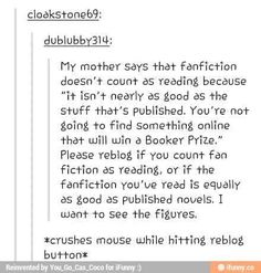 SOME fanfictions aren't written with correct grammar or format, but I've DEFINITELY read really good fanfictions too. So repost!