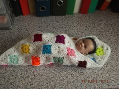 CROCHET BLANKET for Prem Baby or Doll   ID 818  (nannycheryl original) £15.00