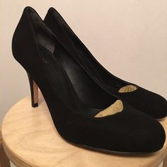 """Cole Haan Air Talia Pump - 9.5B - Black Suede Never worn. Part of the Nike Air collection. Heel height is 3.5"""" Cole Haan Shoes Heels"""