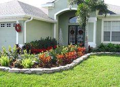 Small front porch garden ideas landscape design ideas for small front yards front yard garden design . Front Yard Garden Design, Garden Front Of House, Small Front Yard Landscaping, Home Garden Design, Home Landscaping, Sidewalk Landscaping, House Front, Florida Landscaping, House Yard