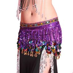 2017 Top Selling Multi Color Chiffon Belly Dance Hip Scarf Coin Sequin Belt Skirt Tassel Hip Wrap New Hot Candy, Belly Dance Skirt, Belly Dancing Classes, Belly Dance Jewelry, Gland, Skirt Belt, Belly Dancers, Dance Outfits, Dance Wear
