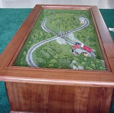 J would sooooo dig this! Train coffee table