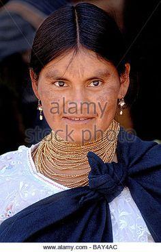 Otavalo Ecuador native american woman the traditional dress