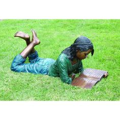 Grace with her Book: Young Girl Bronze Garden Statue by Design Toscano re-pinned by: http://sunnydaypublishing.com/books/