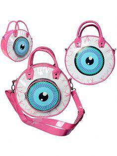 Kreepsville Eyeball Bag, Pink