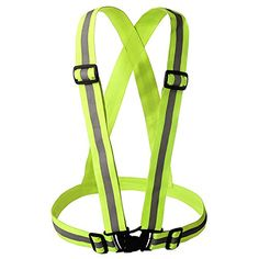 Reflective Vest | Best Nighttime High Visibility for Running - Cycling - Walking | Easy to adjust | Lightweight elastic | Put it on directly over your shirt - sports gear or outdoor clothing such as a winter coat