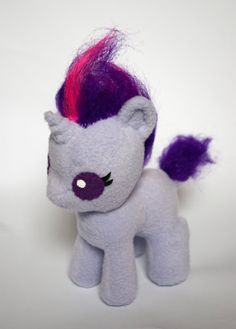 Baby Unicorn Pony Plush Rarity or Twilight por SamanthaJMason