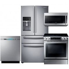 samsung stainless steel kitchen package with sidebyside electric range full console dishwasher and o