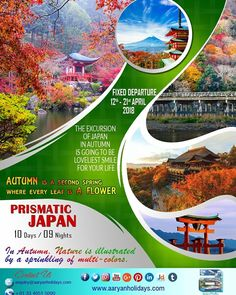Here is an exciting Fixed Departure for you to a destination which you will love to explore - JAPAN, The land of rising sun. https://aaryanholidays.com/campaign_package.php?pn=cmpn https://aaryanholidays.com/package_detail.php?package_id=46