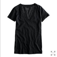 """[J.Crew] • """"Vintage"""" Tee Soft black vneck tshirt! From jcrew! J. Crew Tops Tees - Short Sleeve"""