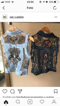 Upcycled denim with lace. Gotta try this 2019 Upcycled denim with lace. Gotta try this The post Upcycled denim with lace. Gotta try this 2019 appeared first on Denim Diy. Diy Clothing, Sewing Clothes, Denim Fashion, Fashion Outfits, Mode Hippie, Mode Jeans, Denim Ideas, Denim Crafts, Altered Couture