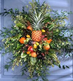 Diy wreath fall decorating ideas more holiday fruit wreath traditional