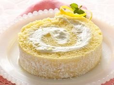 Lemon Cream Cake Roll