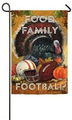Fall Harvest Yard Decorations Garden Flag - Food Family Football Garden Flag New…