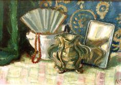 the fan losif Iser - Parisian, Still Life, Painting, Fan, Artists, Art, Random Stuff, Painting Art, Paintings