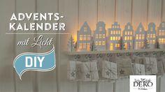 DIY: Adventskalender basteln mit beleuchteten Häuschen - How-to | Deko K...