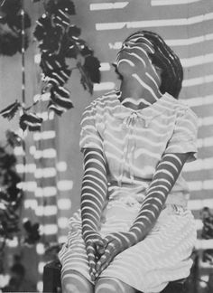 """""""Pergola Pattern"""" (model Beryl Cazneaux)~Image by Harold Cazneaux, 1931 Old Photos, Vintage Photos, Vintage Photography, Art Photography, Atelier Photo, Shadow Play, Light And Shadow, Belle Photo, Black And White Photography"""