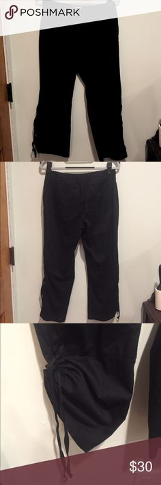 Calvin Klein cotton capris Lightweight and has super cool drawstring legs Calvin Klein Pants Ankle & Cropped