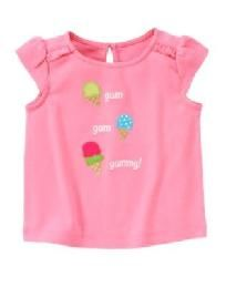 Gymboree Ice Cream Sweetie Pink Yum Yum Yum Tee 2T NWT
