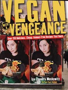 Vegan with a Vengeance is more than just another great cookbook, is that the recipes are interspersed with pages offering resources, organizational suggestions, and many poignant past experiences in the punk world like her travels to cook with the group Food Not Bombs. These pages are so compelling you may want to take the book to bed and just enjoy reading for the fun of it. And when you awake in the morning, haul out the waffle iron and bake up a batch of Ginger-Pear Waffles.