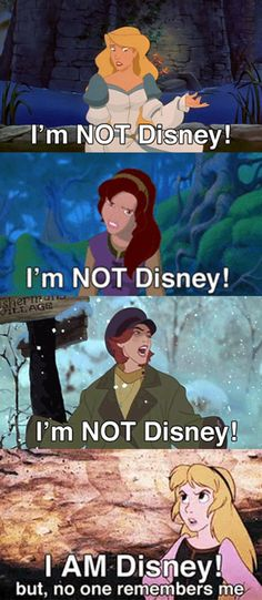 so sad, but true. I know the first three aren't, but when I say Disney I include them anyways. Because they are just as big a part of my childhood as the other Disney Princesses.<<Amen!!