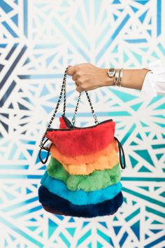 Rainbow Brite vibes... in a bag.