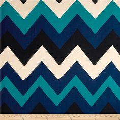 Poly Spandex ITY Knit Chevron Blue/ White/Black from @fabricdotcom  This versatile ITY knit fabric is perfect for creating stylish tops, tanks, gathered skirts and fuller dresses with a lining. It features a soft hand, fluid drape and four way stretch- 50% stretch across the grain, 20% vertical stretch.