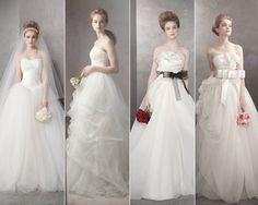 Diseños de Vera Wang.  Más vestidos de novia en http://blog.rtve.es/moda/2012/05/novias.html