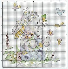 Somebunny to love Cross Stitch For Kids, Cute Cross Stitch, Cross Stitch Animals, Counted Cross Stitch Patterns, Cross Stitch Designs, Cross Stitch Embroidery, Embroidery Patterns, Hand Embroidery, Easter Cross