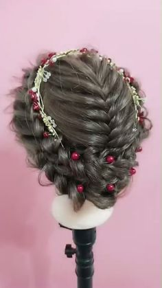86 cool wedding hairstyles for the modern bride - Hairstyles Trends Bride Hairstyles, Cool Hairstyles, Hairstyles Games, Curly Hair Styles, Natural Hair Styles, Hair Videos, Hair Designs, Prom Hair, Hair Hacks