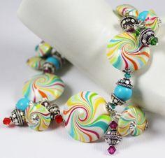 Candyland... Handmade Jewelry Bracelet Beaded por Fanceethat