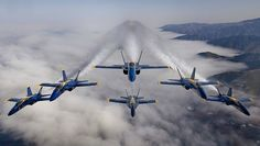 Great shot of the Blue Angels.