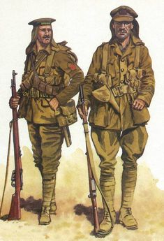 British; Royal Naval Division, 1st (Drake) Battalion, from the neck covers being worn this is possibly their service in Galipoli 1915