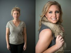 beauty Glamor Photography before and after