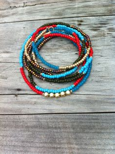 Ultra Long Seed Bead Necklace. Wrap Seed Bead by CoraliBondi, $34.00