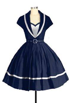 1950s Sailor Dress Chic Star design by Amber Middaugh