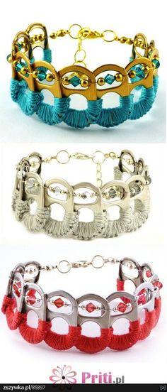DIY recycled soda tab bracelets