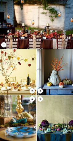 Thanksgiving Table Centerpieces on the Interior Collective