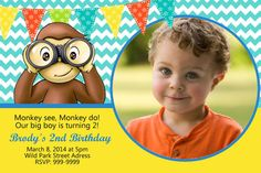 Personalized birthday party invitations! This listing is for a printable invitation, which You receive via email as a digital JPEG file.  Invitation