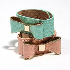 Trending: Tying It Up With A Bow  A hint of mint or a bit of blush?