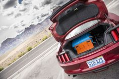IT'S ALL ABOUT THE ADVENTURE!  STAYHOLD™ on a road trip across Nevada in the USA keeping all the cargo safe in the back of the Ford Mustang.