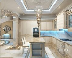 Kitchen Design in Dubai, Cozy Kitchen Luxury Apartment, Photo 3