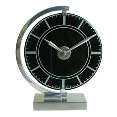 Stunning Art Deco Streamline Modernist Clock  France  1930's  Extremely rare modernist European clock.
