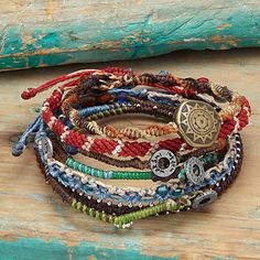 Look what I found at UncommonGoods: Story of the Earth Set of 7 Bracelets....adapt for story of our family, etc.