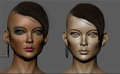 ArtStation - New asian Woman wip test, Pierre Benjamin