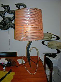50's Majestic Lamp with fiberglass shade.