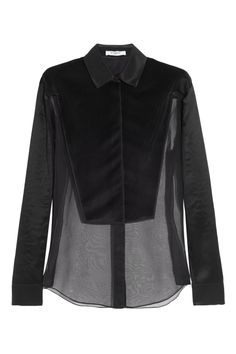 Givenchy | Black organza shirt with plastron | NET-A-PORTER.COM
