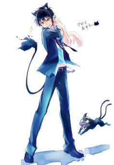 Find images and videos about anime, manga and ao no exorcist on We Heart It - the app to get lost in what you love. Ao No Exorcist, Blue Exorcist Anime, Rin Okumura, Manga Boy, Manga Anime, Neko Boy, Sailor Moon, Mini Comic, Animal Ears