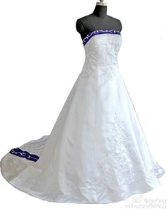FairOnly Strapless Embroidery Stain Wedding Dress Custom Size 4 6 8 10 12 14 16