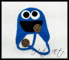 fac13308a198a Image Search Results for crochet cookie monster hat Crochet Cap